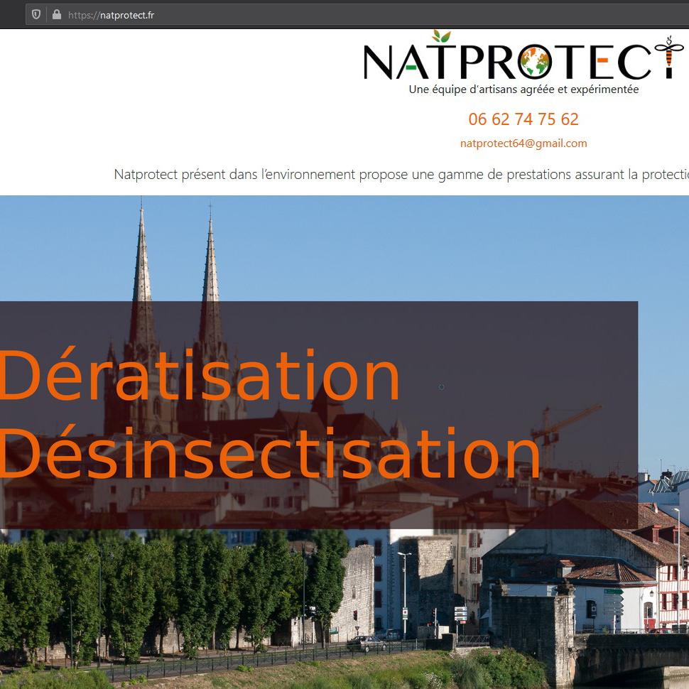 Apercu du logo NatProtect créé par KréAcor sur leur site web